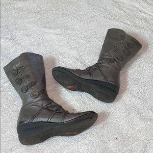 Miz Mooz Olsen Gray leather boot Sz 39